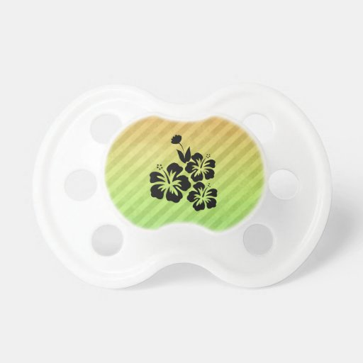Tropical Flowers Baby Pacifier