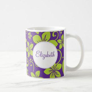 Tropical Flowers Personalized Mug