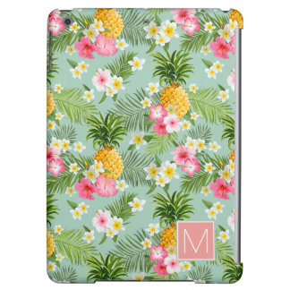 Tropical Flowers & Pineapples | Add Your Initial iPad Air Cases