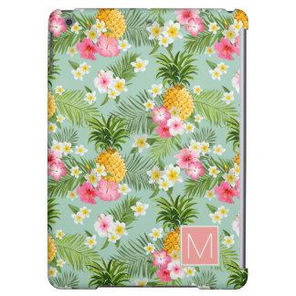 Tropical Flowers & Pineapples | Monogram iPad Air Cases