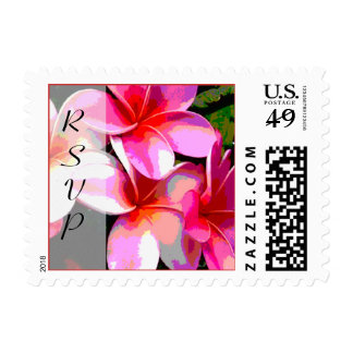 Tropical Flowers RSVP Postage