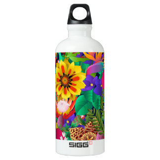 tropical flowers SIGG traveler 0.6L water bottle