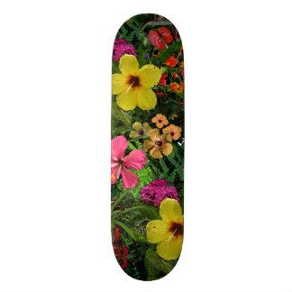 Tropical Flowers Skateboard