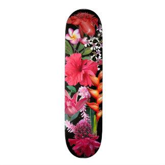 Tropical Flowers Skate Board Deck