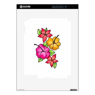 Tropical Flowers iPad 2 Skin