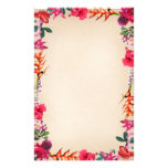 Tropical Flowers Stationery
