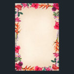 "Tropical Flowers Stationery<br><div class=""desc"">A stationery that inspires you to write,  decorated with Hibiscus,  Ginger,  Plumeria,  Heliconia,  and Orchid. Let me know if you want just a special selection of those</div>"