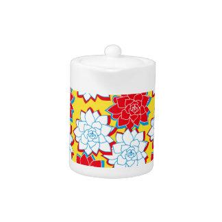 Tropical Flowers Teapot