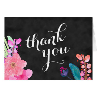 tropical flowers thank you 5x7, Luau thank you Card