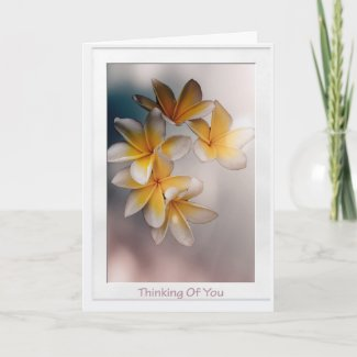 Tropical Flowers Thinking Of You Get Well Card