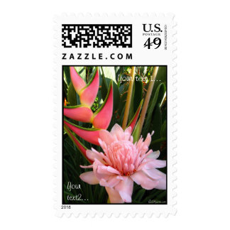 Tropical Flowers Tropical Wedding Postage Stamps Stamps