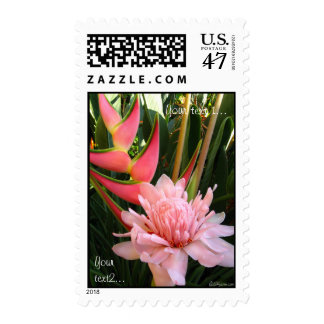Tropical Flowers Tropical Wedding Postage Stamps