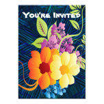 "Tropical Flowers & Vines 5"" X 7"" Invitation Card"