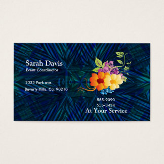 Tropical Flowers & Vines Business Card