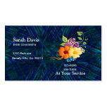 Tropical Flowers & Vines Business Card Template