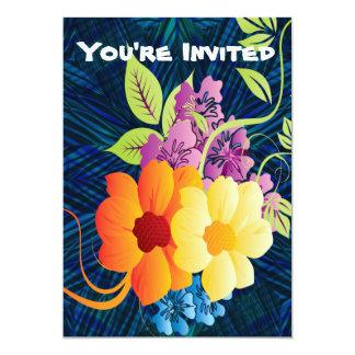 Tropical Flowers & Vines Card