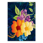 Tropical Flowers & Vines Greeting Card