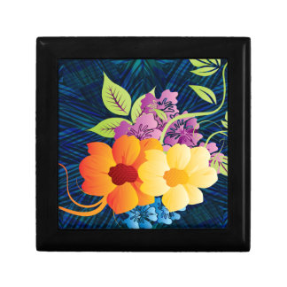 Tropical Flowers & Vines Jewelry Box