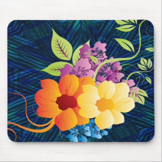 Tropical Flowers & Vines Mouse Pad