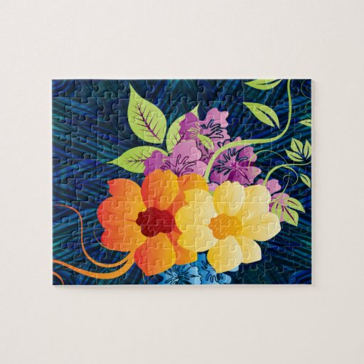 Tropical Flowers & Vines Puzzle