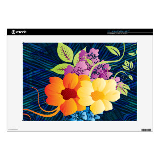 """Tropical Flowers & Vines Skin For 15"""" Laptop"""