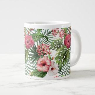 Tropical Flowers Watercolor Modern Fine Floral Large Coffee Mug