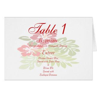 Tropical Flowers Wedding Card
