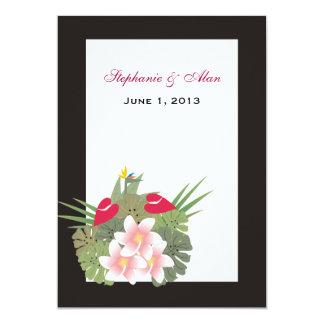 Tropical Flowers Wedding Invitation