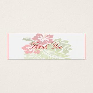Tropical Flowers Wedding Mini Business Card