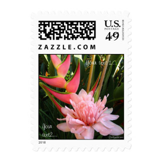 Tropical Flowers Wedding Small Postage Stamp Postage Stamps