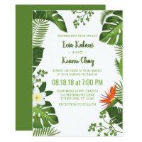 Tropical Foliage Botanical Wedding Invitations