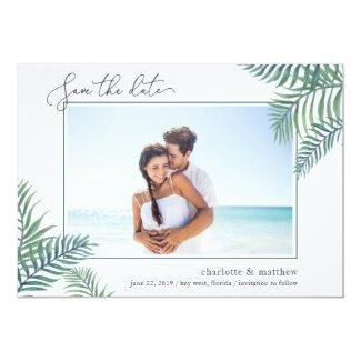 Tropical Foliage Photo Save the Date Card