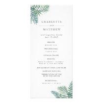 Tropical Foliage Wedding Ceremony Program