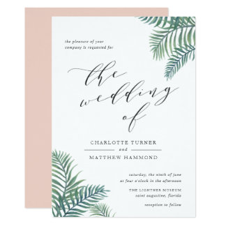 Tropical Foliage Wedding Invitation