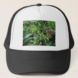 Tropical Forest Flora Background Trucker Hat