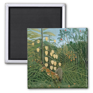 Tropical Forest, Henri Rousseau Magnets