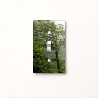 tropical forest light switch plate