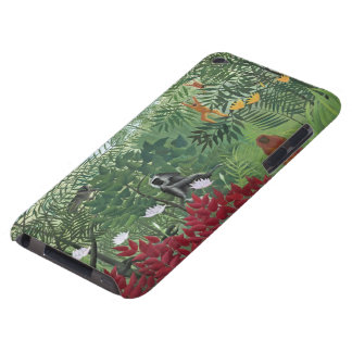 Tropical Forest with Monkeys, 1910 (oil on canvas) Barely There iPod Cover