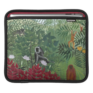 Tropical Forest with Monkeys, 1910 (oil on canvas) iPad Sleeve