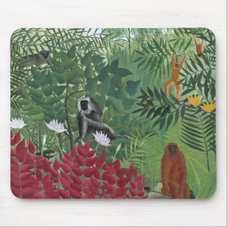 Tropical Forest with Monkeys, 1910 (oil on canvas) Mouse Pad