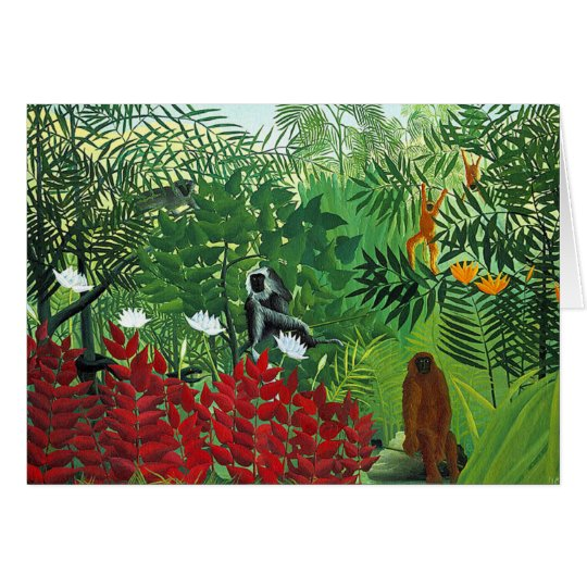 Tropical Forest with Monkeys Card