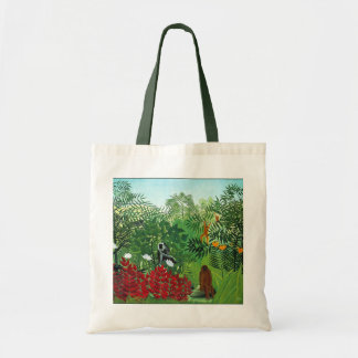 Tropical Forest with Monkeys Tote Bag