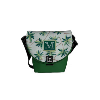 Tropical Foxtail Palm   Add Your Initial Messenger Bag