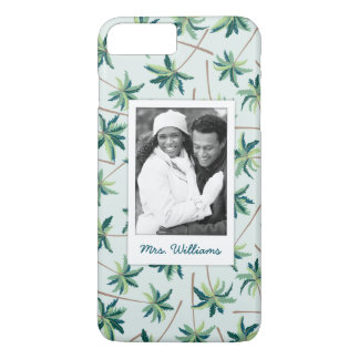 Tropical Foxtail Palm | Add Your Photo & Name iPhone 8 Plus/7 Plus Case
