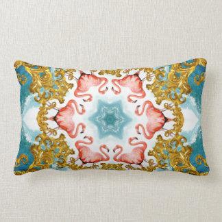 Tropical fractal mandala design throw pillow