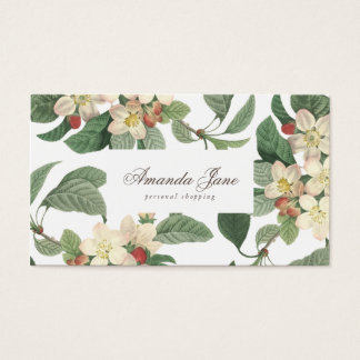 Tropical Fresh Green Flowers Business Card