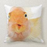 Tropical freshwater fish throw pillows