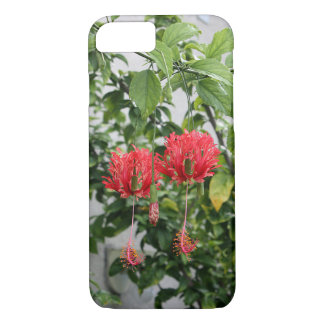 Tropical Fringed Coral Hibiscus Flower iPhone 7 Case