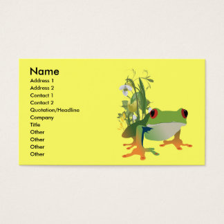 tropical frog vector design business card