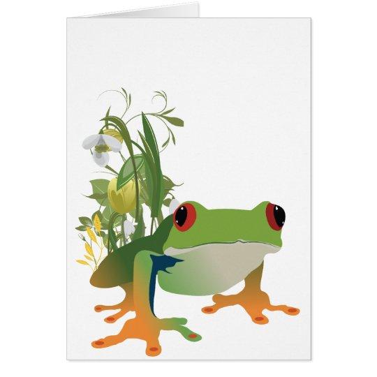 tropical frog vector design card